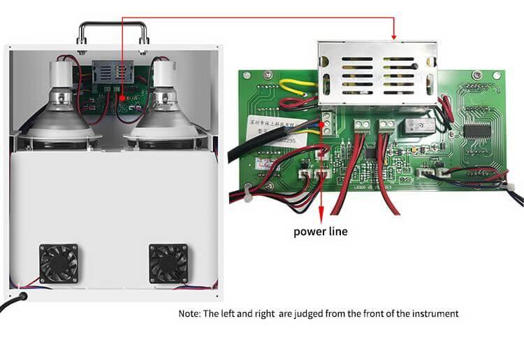solar film temperature meter structure