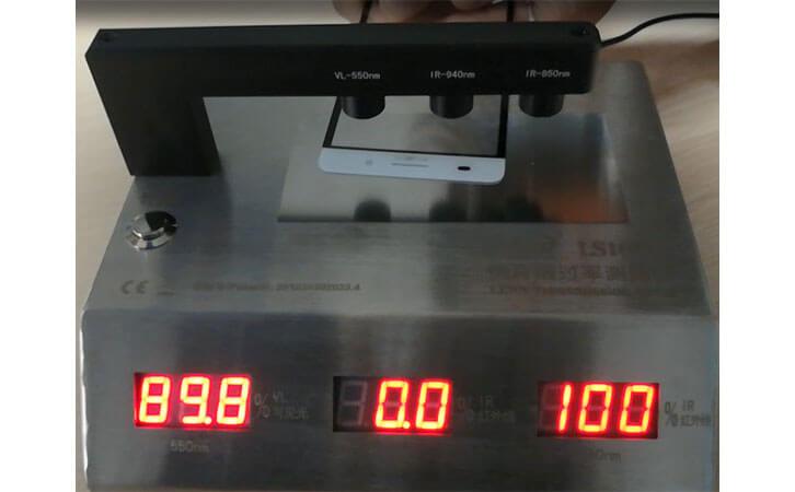 lens light transmission meter