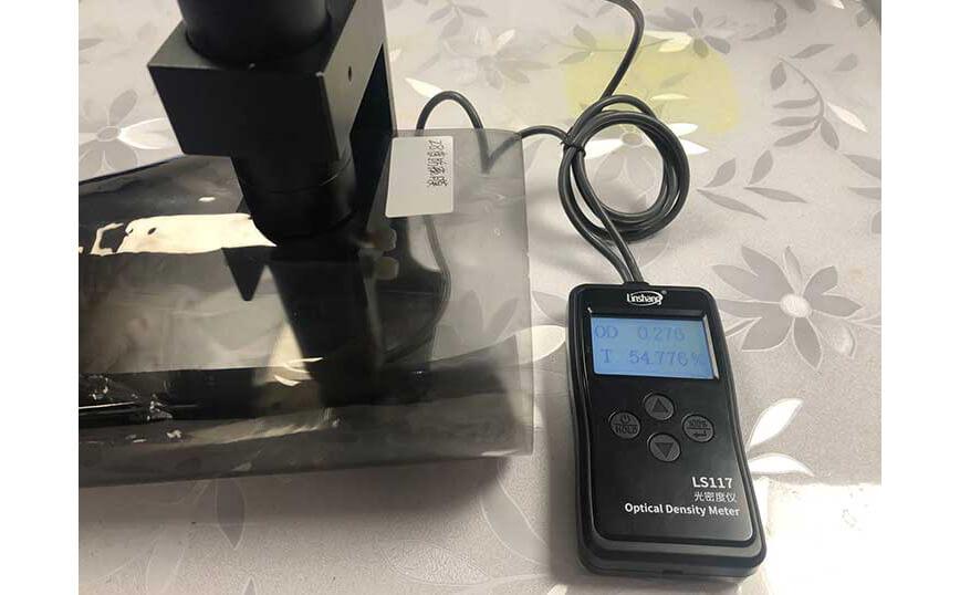 optical density meter test 28° privacy film