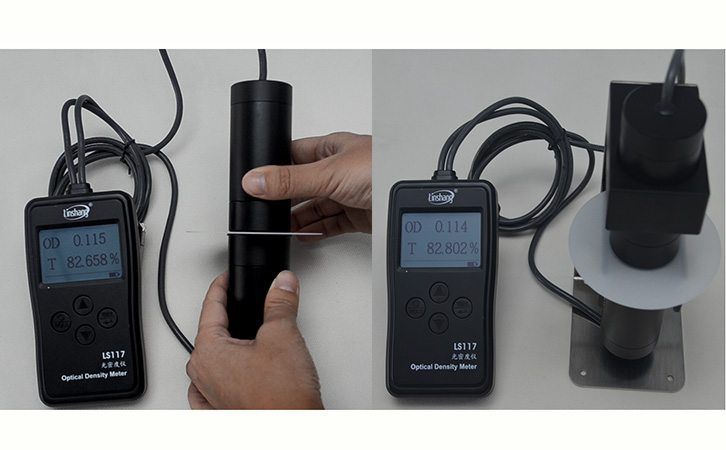 LS117 optical density meter test the milky materials