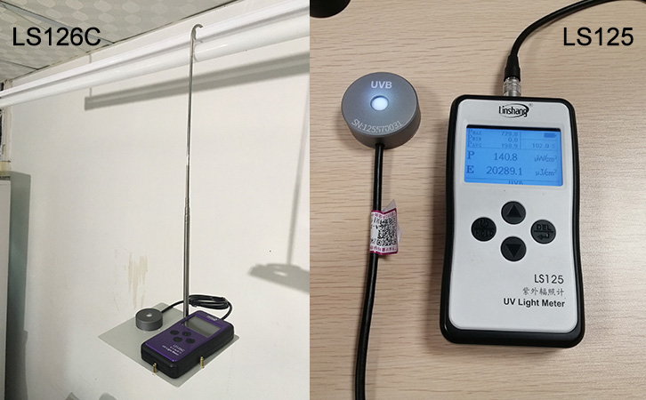 UV lamp intensity meter