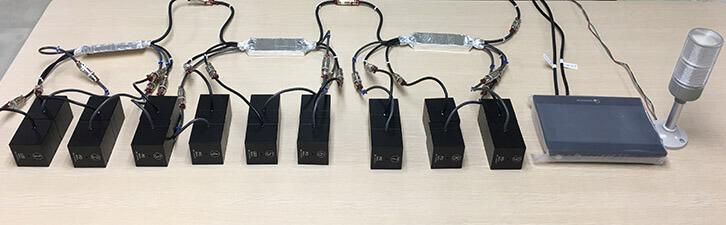 test probe of online light transmittance meter