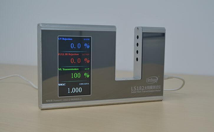What is the Peak Wavelength λp in the Window Film Transmission Meter Parameters?