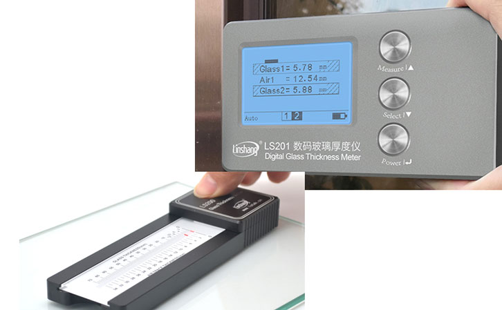 201 digital glass thickness meter