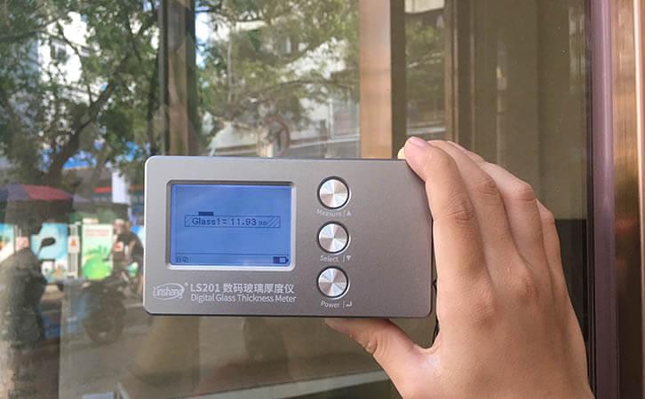 LS201 digital glass thickness gauge
