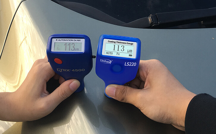 220 digital paint thickness gauge test the car paint thickness