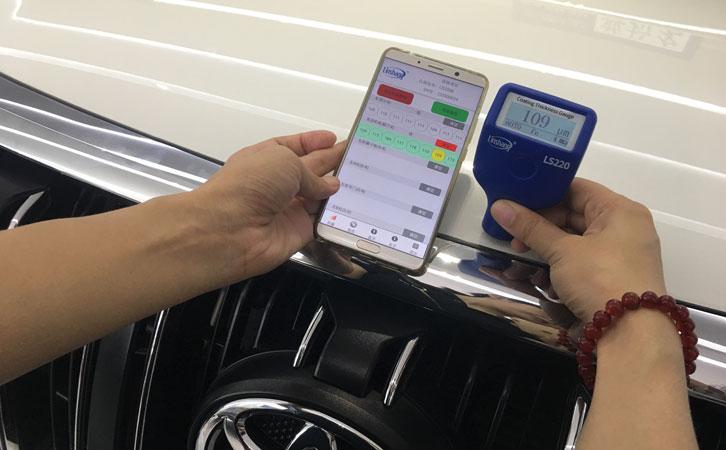 Bluetooth paint thickness gauge