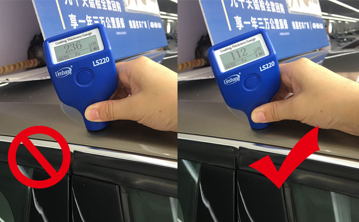 paint thickness meter gauge