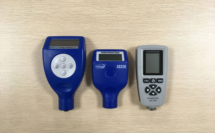 different auto paint meters