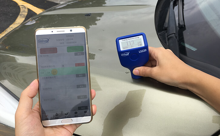 Coating Thickness Gauge with Bluetooth