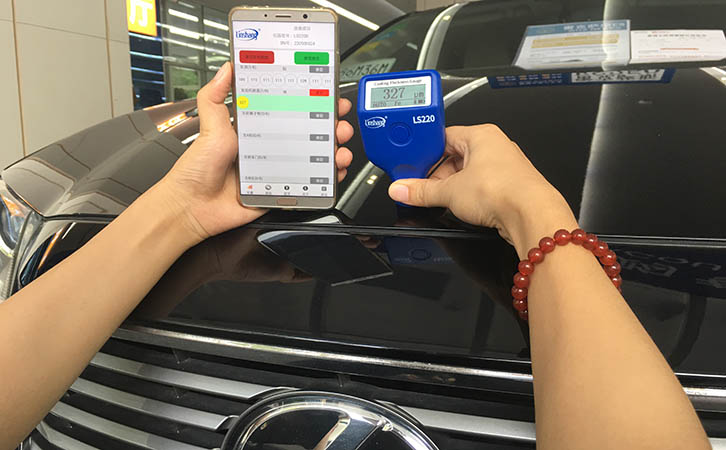 automotive paint thickness gauge with bluetooth