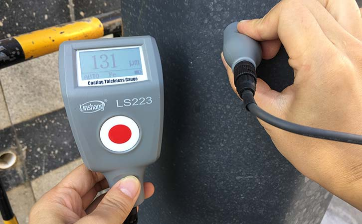 paint thickness meter teste steel structure