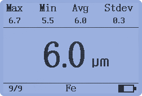 LS225+F500 plating thickness gauge measurement data