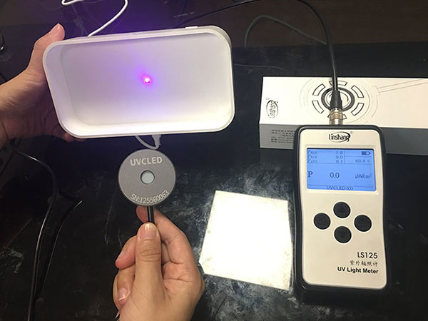 uvc led light meter test sterilization box