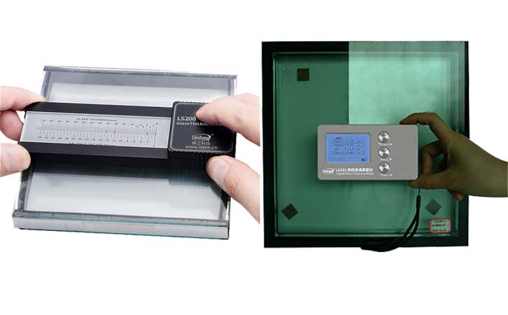 digital glass thickness gauge measure IG glass
