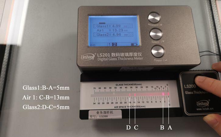 glass thickness measurement tools