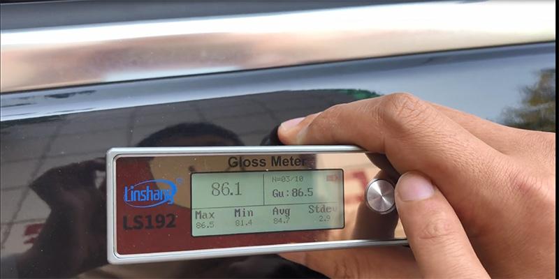 paint gloss meter measure car surface