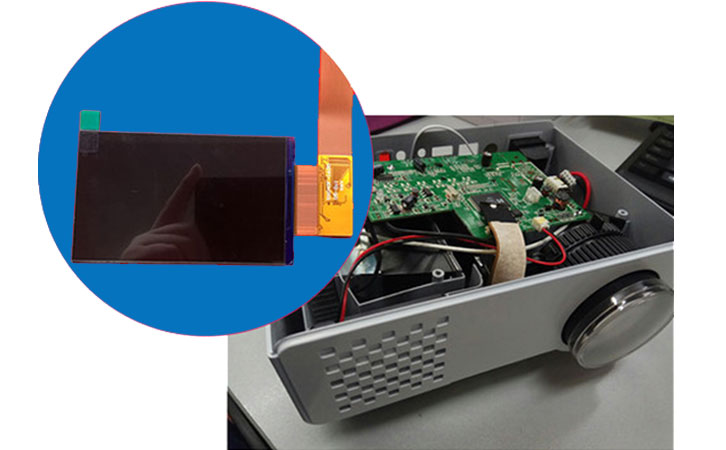 Projector LCD screen