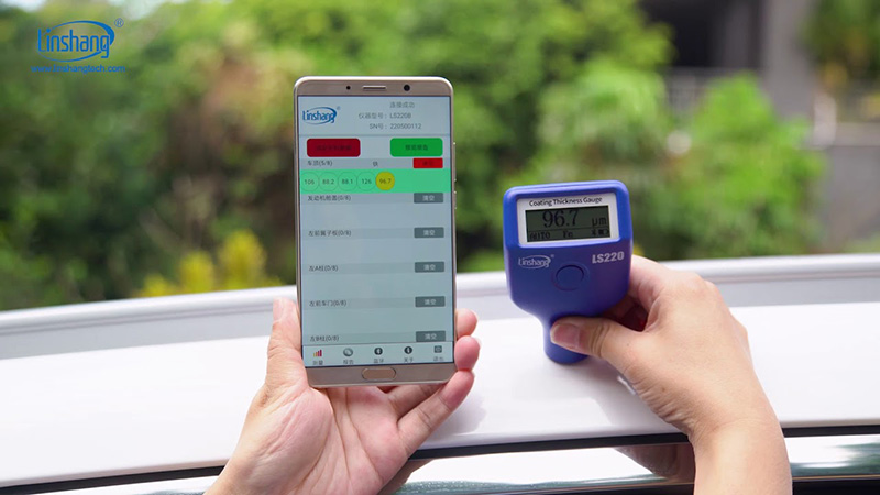 Bluetooth car paint meter test the car paint thickness