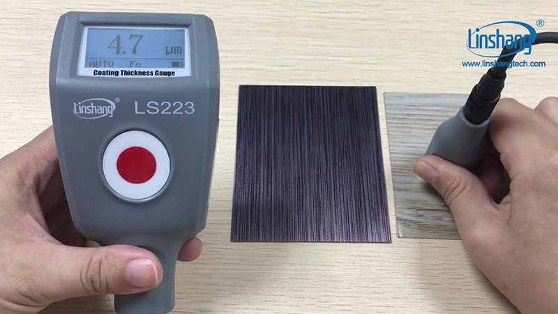 LS223 paint thickness meter accuracy test